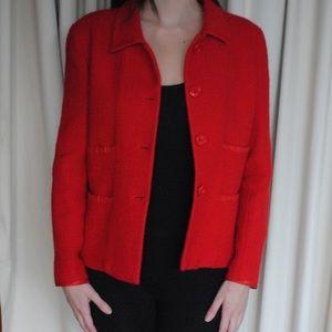 natural red tweed jacket-vintage carolina herrera